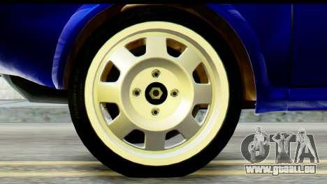 Dacia 1300 B 89 WRC pour GTA San Andreas sur la vue arrière gauche