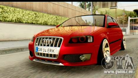 Audi S3 2007 Camber Edit pour GTA San Andreas
