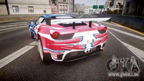 Ferrari 458 GT2 Stevenson Racing pour GTA 4 Vue arrière de la gauche