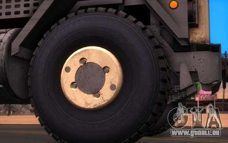 Oshkosh M1070 HET Tank Transporter für GTA San Andreas zurück linke Ansicht