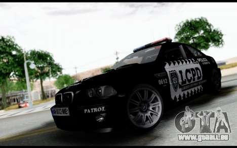 BMW M3 E46 Police pour GTA San Andreas