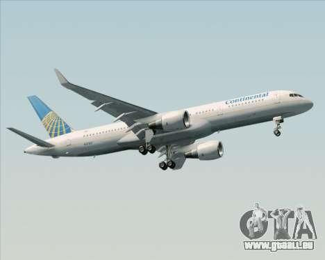 Boeing 757-200 Continental Airlines pour GTA San Andreas vue intérieure