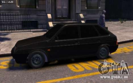 Lada 2109 pour GTA 4 Vue arrière de la gauche
