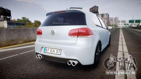 Volkswagen Golf R pour GTA 4 Vue arrière de la gauche
