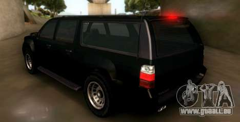GTA 5 FIB Granger pour GTA San Andreas sur la vue arrière gauche