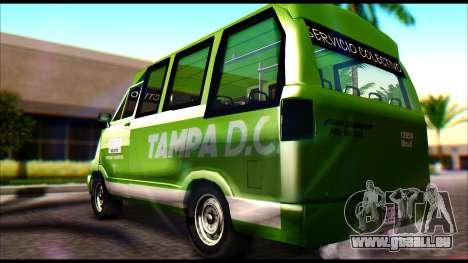 Toyota Microbus für GTA San Andreas linke Ansicht