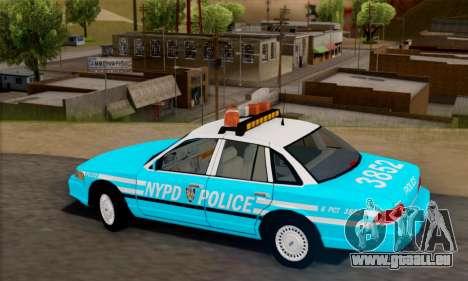 Ford Crown Victoria NYPD Blue pour GTA San Andreas laissé vue