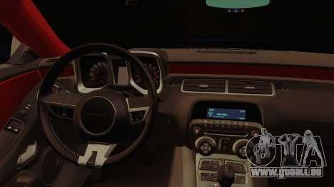 Chevrolet Camaro SS für GTA San Andreas Rückansicht