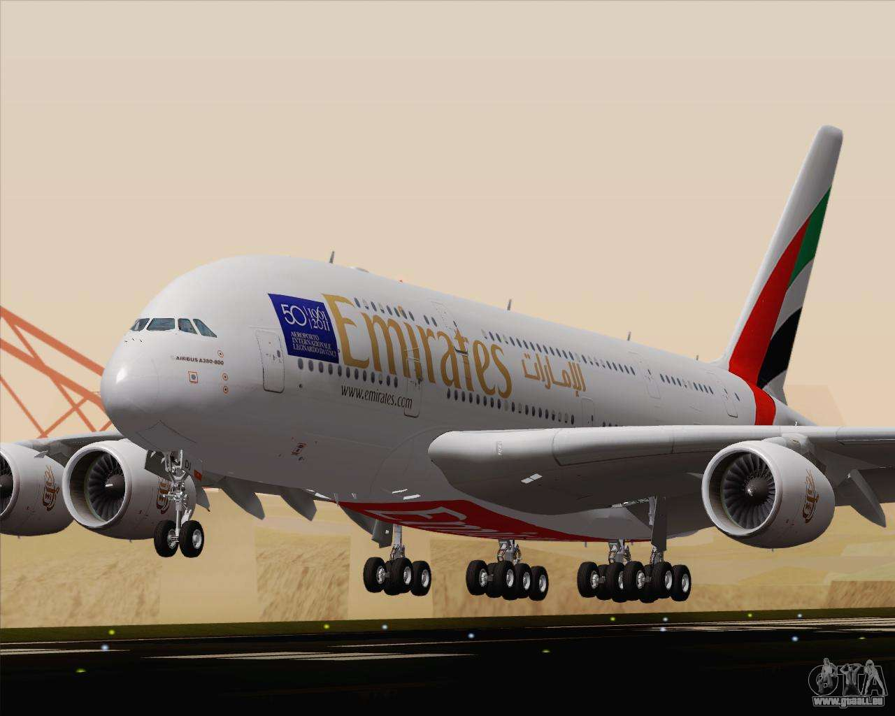 Airbus a380 800 emirates a6 edj f r gta san andreas - Emirates airlines paris office ...