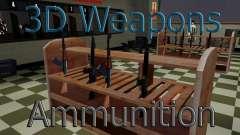 Les modèles 3D des armes dans l'Ammu-nation