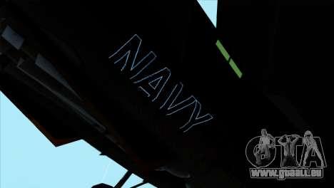 F-14 Black Storm pour GTA San Andreas sur la vue arrière gauche