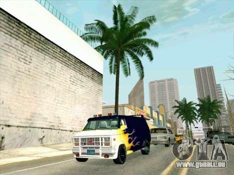 GMC The A-Team Van für GTA San Andreas Rückansicht