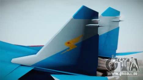 MIG-29 Russian Falcon pour GTA San Andreas sur la vue arrière gauche