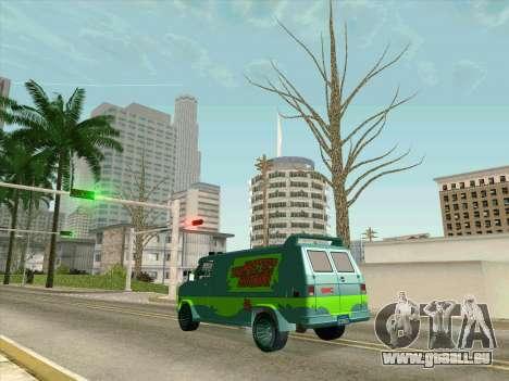 GMC The A-Team Van pour GTA San Andreas vue de dessous