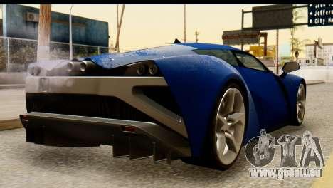Marussia B2 für GTA San Andreas linke Ansicht
