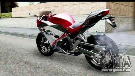 Kawasaki Ninja 250 Fi für GTA San Andreas linke Ansicht
