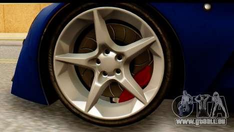 Marussia B2 für GTA San Andreas zurück linke Ansicht