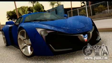 Marussia B2 für GTA San Andreas Rückansicht