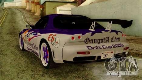 Mazda RX-7 Gangsta Club für GTA San Andreas linke Ansicht