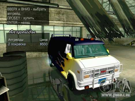 GMC The A-Team Van pour GTA San Andreas