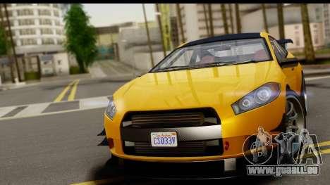 GTA 5 Maibatsu Penumbra pour GTA San Andreas sur la vue arrière gauche