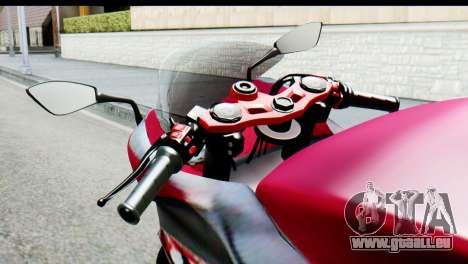 Kawasaki Ninja 250 Fi für GTA San Andreas zurück linke Ansicht