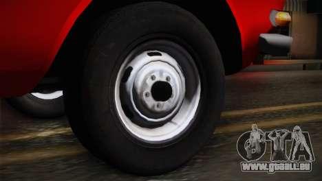 АЗЛК 412 URSS Autosport pour GTA San Andreas sur la vue arrière gauche