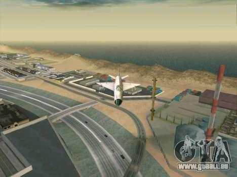 MiG 21 für GTA San Andreas zurück linke Ansicht