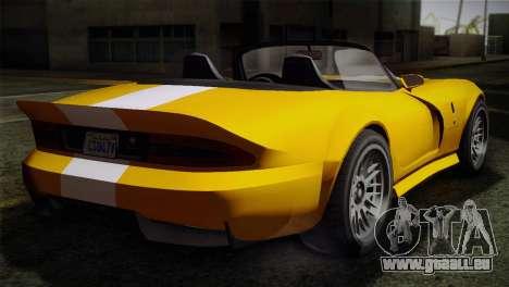 GTA 5 Invetero Coquette SA Mobile für GTA San Andreas zurück linke Ansicht