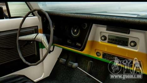 Chevrolet C10 Patrulla pour GTA San Andreas vue arrière