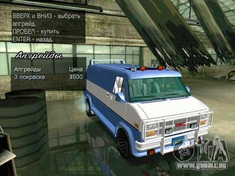 GMC The A-Team Van pour GTA San Andreas vue de côté