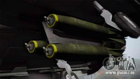 F-15 (Battlefield 2) pour GTA San Andreas vue arrière