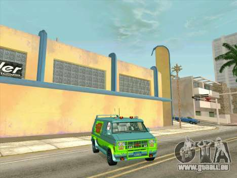 GMC The A-Team Van für GTA San Andreas Innen