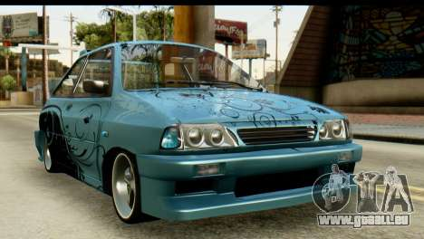 Ford Festiva Tuning pour GTA San Andreas vue arrière