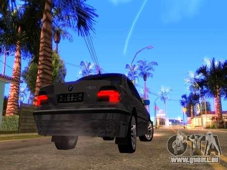BMW 740i BL pour GTA San Andreas vue de droite