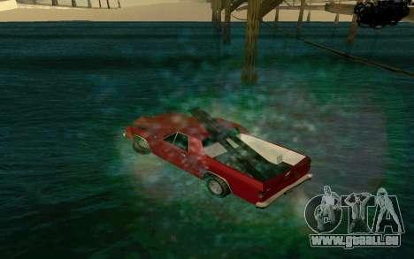 Cars Water pour GTA San Andreas deuxième écran