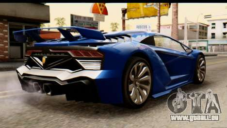 GTA 5 Pegassi Zentorno v2 für GTA San Andreas linke Ansicht