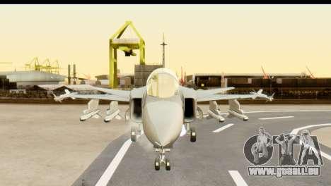 Saab Gripen NG für GTA San Andreas Rückansicht