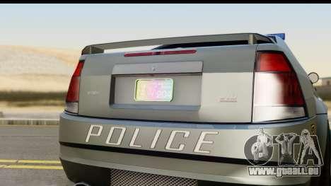 EFLC TBoGT Albany Police Stinger SA Mobile pour GTA San Andreas sur la vue arrière gauche