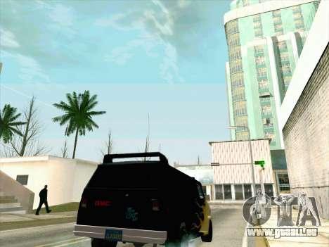 GMC The A-Team Van pour GTA San Andreas vue intérieure
