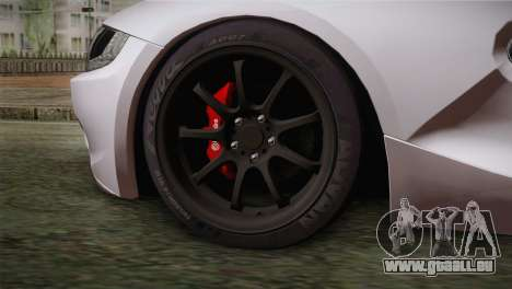 BMW Z4 V10 IVF pour GTA San Andreas sur la vue arrière gauche