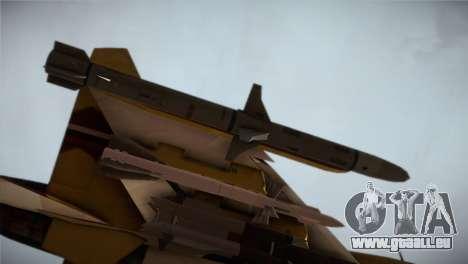 SU-37 Terminator für GTA San Andreas rechten Ansicht
