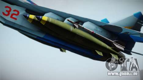MIG-29 Russian Falcon pour GTA San Andreas vue de droite