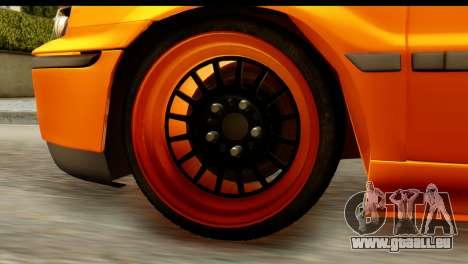 Ikco Samand Tuning pour GTA San Andreas vue arrière