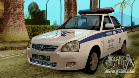 Lada Priora 2170 Polizei DPS Moskau für GTA San Andreas