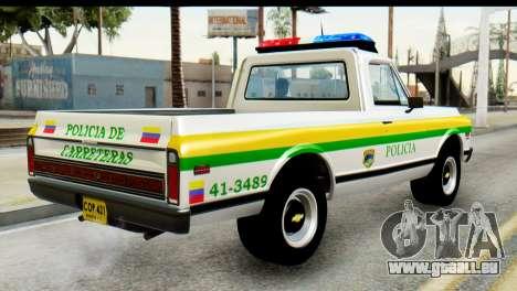 Chevrolet C10 Patrulla pour GTA San Andreas laissé vue