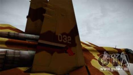 SU-37 Terminator für GTA San Andreas zurück linke Ansicht