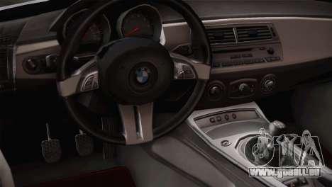 BMW Z4 V10 IVF pour GTA San Andreas vue arrière