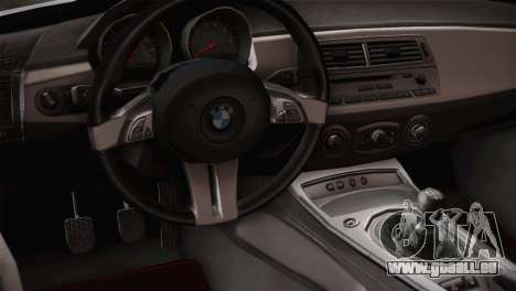 BMW Z4 V10 IVF für GTA San Andreas Rückansicht