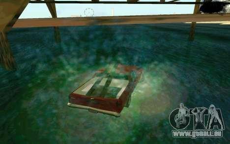 Cars Water pour GTA San Andreas quatrième écran